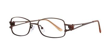 Light Brown Elan 3404 Eyeglasses.