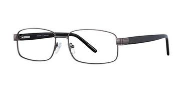 Gunmetal Elan 3705 Eyeglasses.