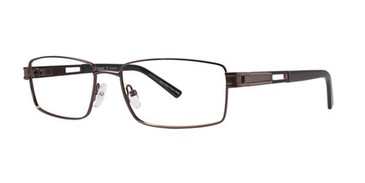 Brown Elan 3711 Eyeglasses.