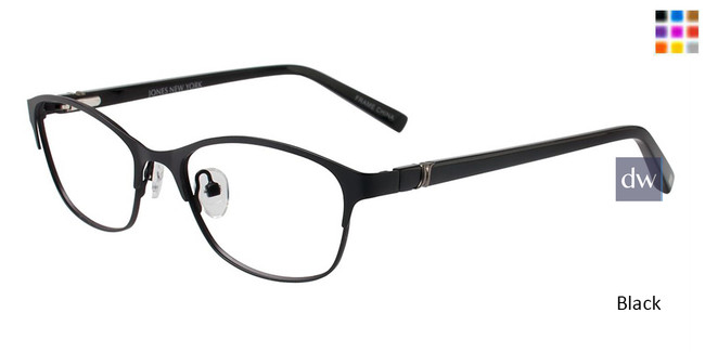 Black Jones New York Petite J138 Eyeglasses - Teenager.