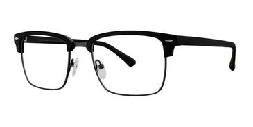 Black/Brown W Dark Gun Rim Vivid Collection 257 Eyeglasses.