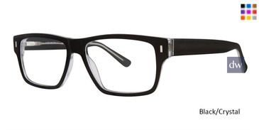 Black/Crystal Big And Tall 13 Eyeglasses.