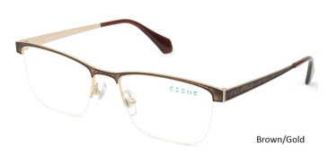 Brown/Gold C-Zone E2218 Eyeglasses