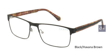 Black/Havana Brown C-Zone E5198 Eyeglasses