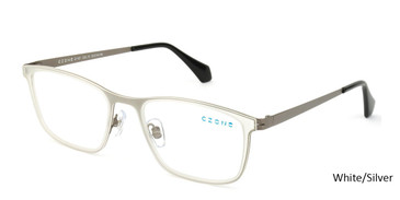 White/Silver C-Zone E1187 Eyeglasses.