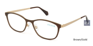Brown/Gold C-Zone E1186 Eyeglasses.