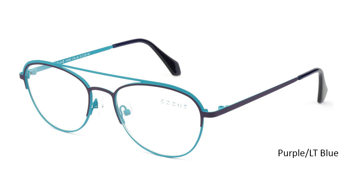 Purple/Lt Blue  C-Zone A3209 Eyeglasses