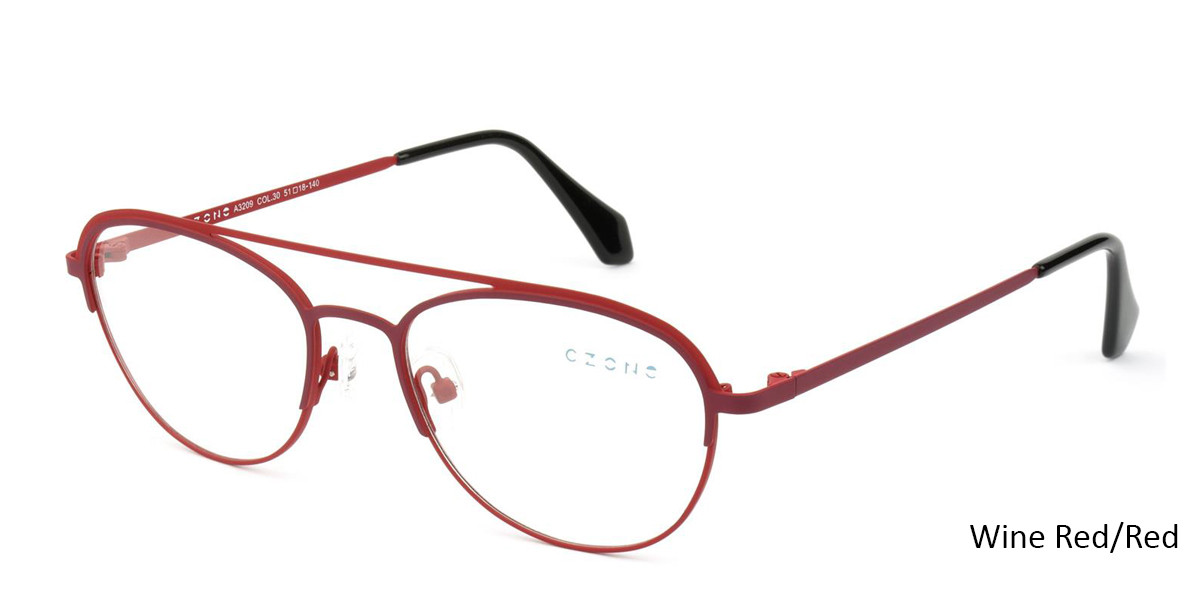 Wine Red/Red C-Zone A3209 Eyeglasses