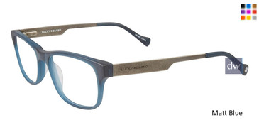Matt Blue Lucky Kid D807 Eyeglasses - Teenager