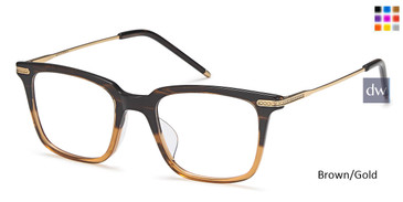 Brown/Gold Capri AGO 1005 Eyeglasses - Teenager