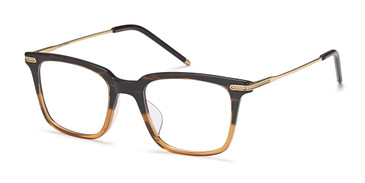 Brown/Gold Capri AGO 1005 Eyeglasses - Teenager