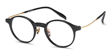 Black/Gold Capri AGO 1009 Eyeglasses.