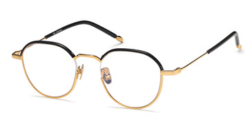 Black/Gold Capri AGO 1010 Eyeglasses - Teenager.