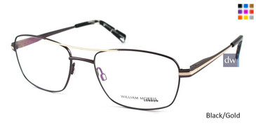 Black/Gold William Morris London WM50045 Eyeglasses.