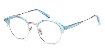 Silver/Blue Capri AGO 1015 Eyeglasses - Teenager.