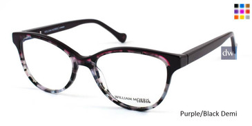 Purple/Black Demi William Morris London WM50024 Eyeglasses
