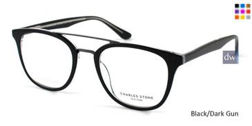 Black/Dark Gun Charles Stone NY CSNY 30014 Eyeglasses