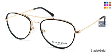 Black/Gold Charles Stone NY CSNY 30020 Eyeglasses