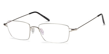 Shiny Silver Capri BIGGU B774 Eyeglasses.
