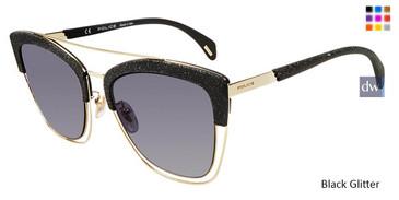 Black Glitter Police SPL618 Sunglasses