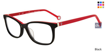 Black Carolina Herrera VHE732K Eyeglasses.