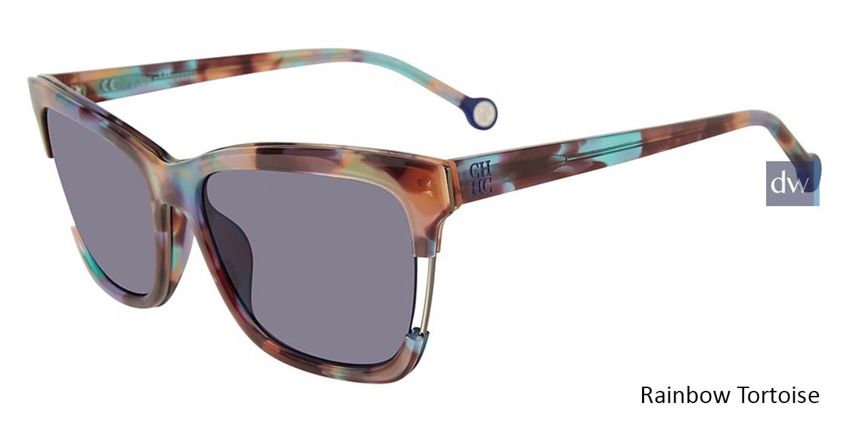 Rainbow Tortoise Carolina Herrera SHE752 Sunglasses