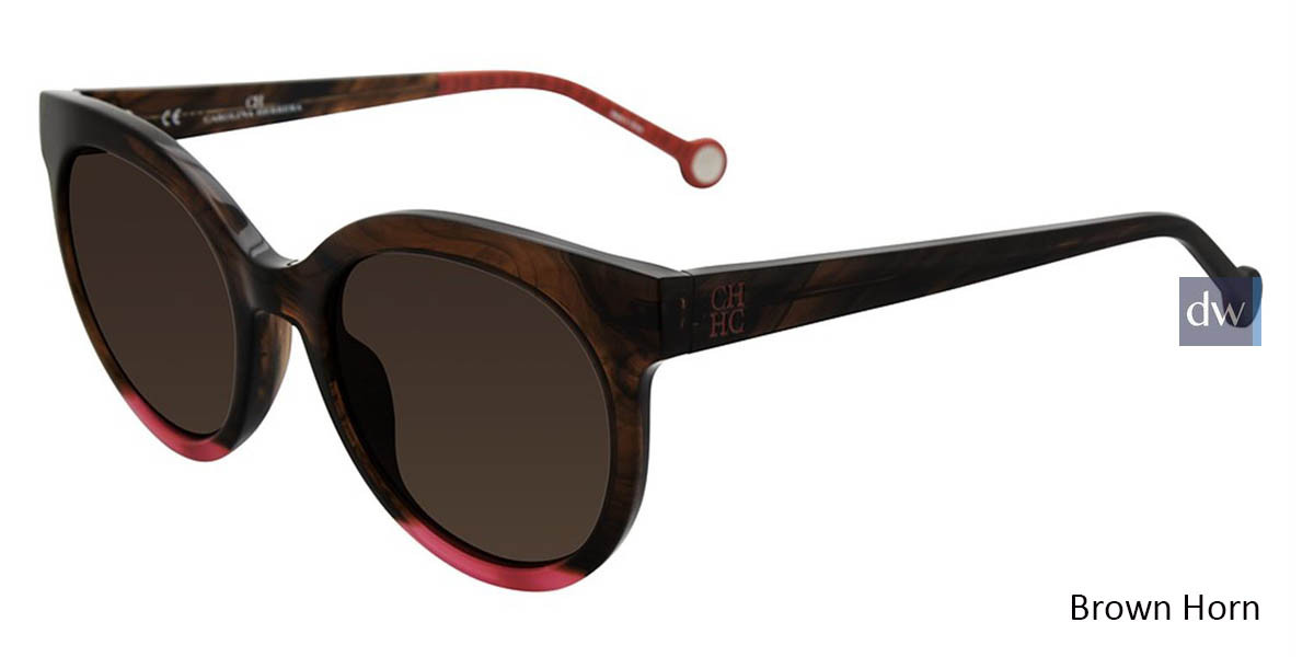 Brown Horn Carolina Herrera SHE745 Sunglasses.