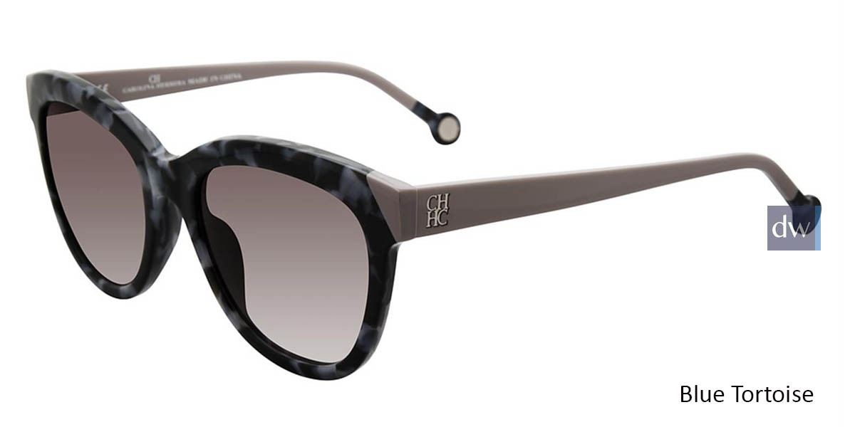 Blue Tortoise Carolina Herrera SHE743 Sunglasses