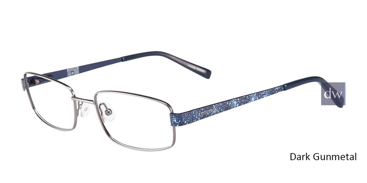 Dark Gunmetal Converse K101 Eyeglasses - Teenager