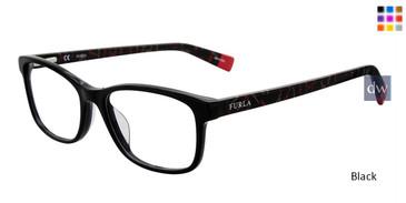 Black Furla VFU076 Eyeglasses.
