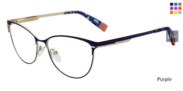 Purple Furla VFU127 Eyeglasses.