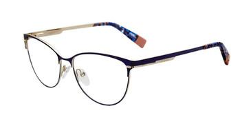 Purple Furla VFU127 Eyeglasses.