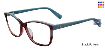 Black Pattern Furla VFU132 Eyeglasses.