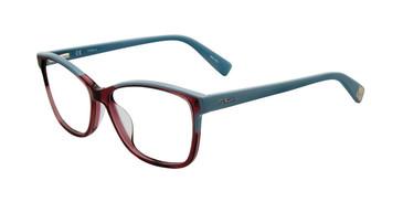 Black Pattern Furla VFU132 Eyeglasses.