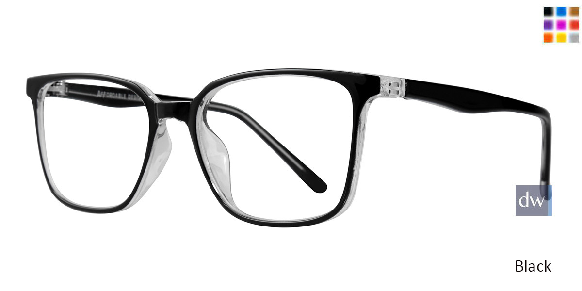 862cfd8296 Affordable Designs Tate Unisex Prescription Eyeglasses