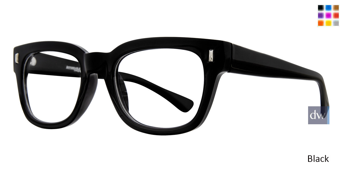 Black Affordable Designs Urban Eyeglasses