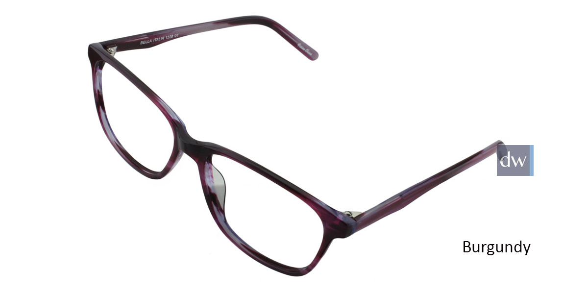 Burgundy BELLA ITALIA 1228 Eyeglasses