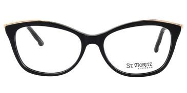Black ST. MORITZ Belmont Eyeglasses