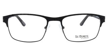 Black ST. MORITZ Bradford Eyeglasses