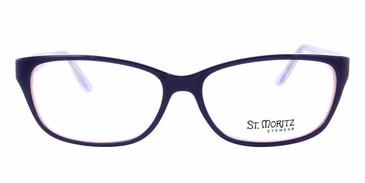 Plum/Violet ST. MORITZ Elaine Eyeglasses.