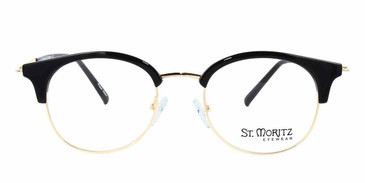Black/Gold ST. MORITZ Hayden Eyeglasses - Teenager.