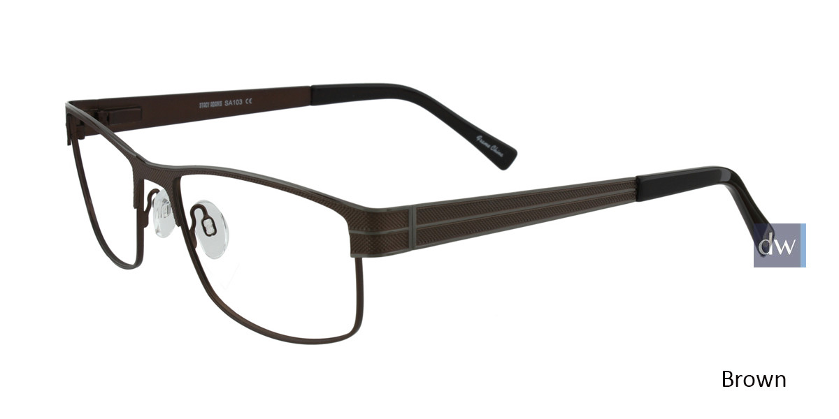 Brown STACY ADAMS 103 Eyeglasses