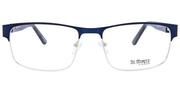 Blue ST. MORITZ Spartan Eyeglasses