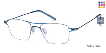 Shiny Blue Capri M4017 Eyeglasses - Teenager.