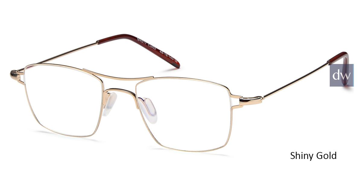 b844d7e681 Shiny Gold Capri M4017 Eyeglasses - Teenager.