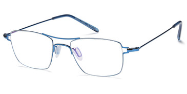 Shiny Blue Capri Menizzi M4017 Eyeglasses - Teenager.