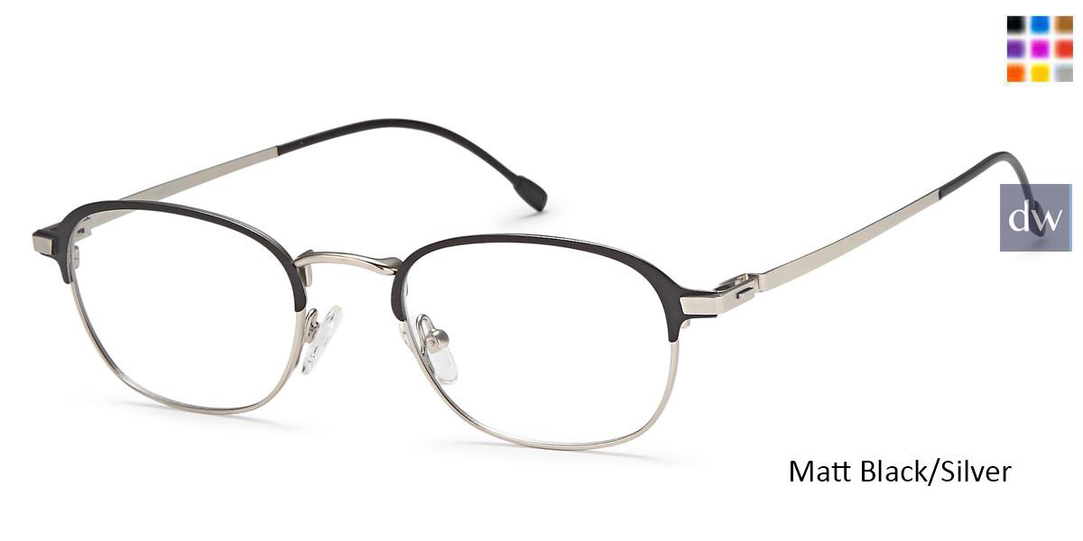 6d6b45ab90 Matt Black Silver Capri M4031 Eyeglasses- Teenager ...