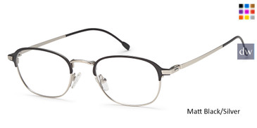 Matt Black/Silver Capri M4031 Eyeglasses- Teenager