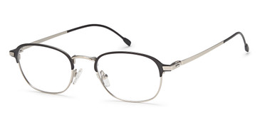 Matt Black/Silver Capri Menizzi M4031 Eyeglasses- Teenager.