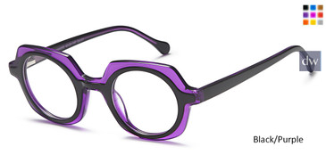 Black/Purple Daniel Walters M4053 Eyeglasses